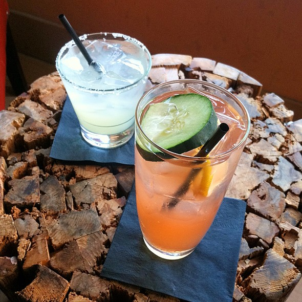 Cucumber Jalapeño Margarita And Regular Margarita