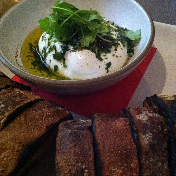 Maplebrook Burrata With Chimicurri, Grilled Sourdough - Floataway Cafe, Atlanta, GA