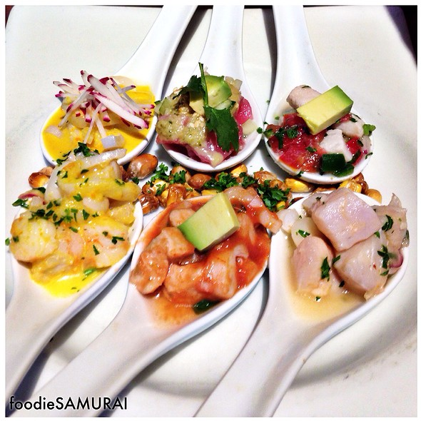Ceviche Sampler @ Jaguar Ceviche Spoon Bar & Latam Grill