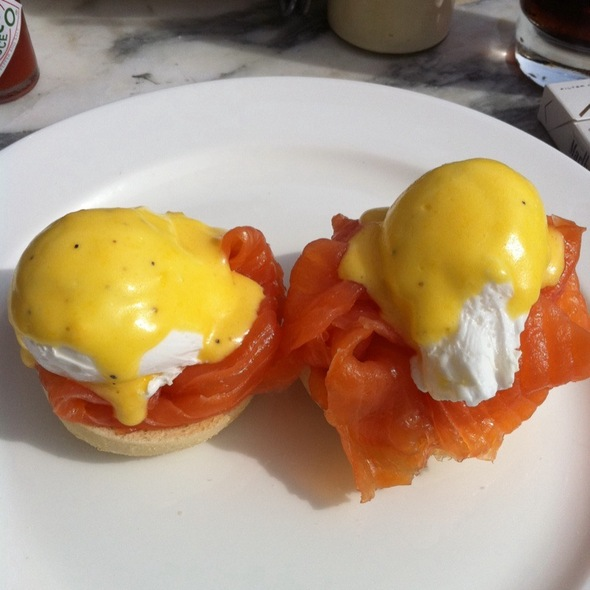 Eggs Royale with smoked salmon @ soho house