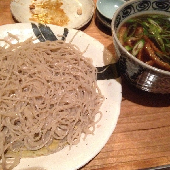 Soba With Duck Broth-Based Dipping Sauce @ Soba Totto