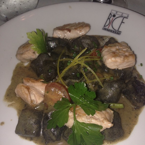 Gnocchi With Black Squid Ink And Salmon - BICE - San Diego, San Diego, CA