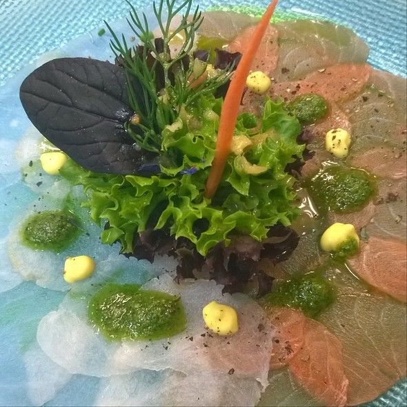 Carpaccio Of Salmon & Monkfish @ Restaurant Crystal