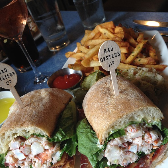 Lobster club sandwich @ B & G Oysters
