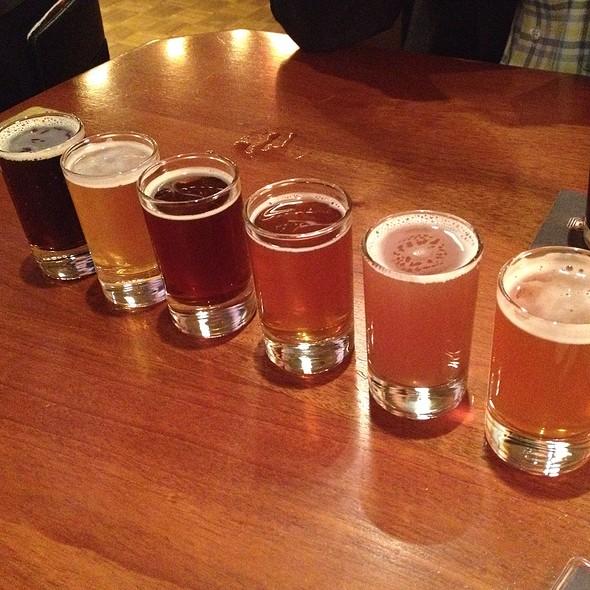 6 Beer Sampler - Rock Bottom Brewery Restaurant - Milwaukee, Milwaukee, WI