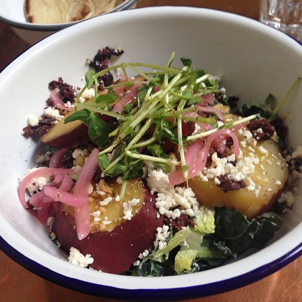 Roasted White Sweet Potato Salad @ Souvla