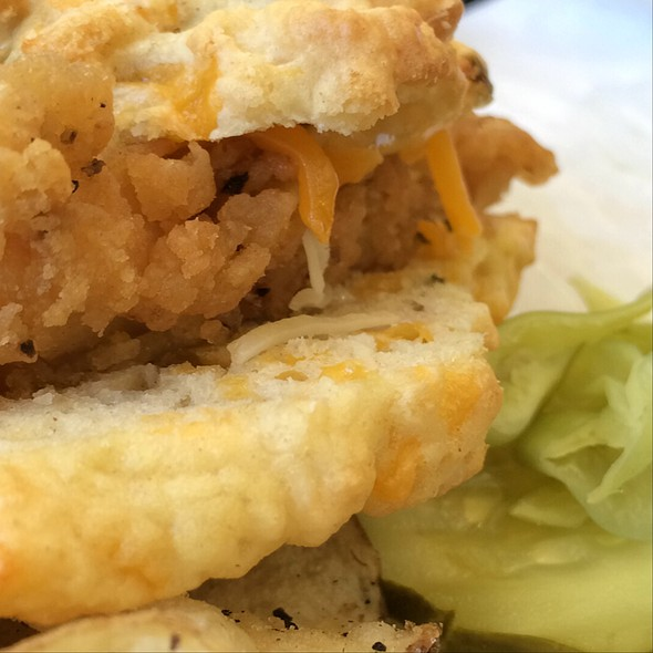 Fried Chicken Biscuit @ The Dixie Kitchen
