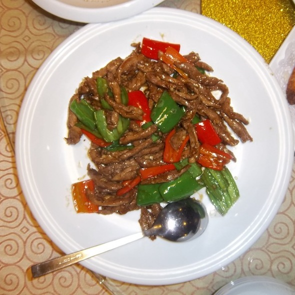 Spicy Beef with Peppers @ Yi Zhi Wan