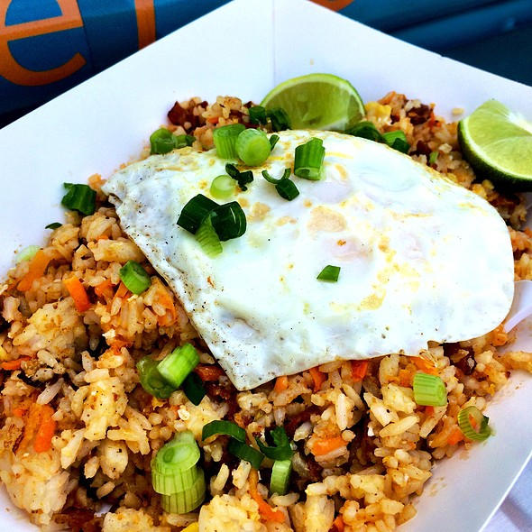 Spicy Curry Coconut Lime Bacon Fried Rice @ Be More Pacific