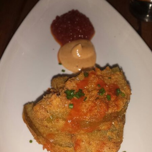 Fried Green Tomatoes, Cornmeal Crusy Old Bay Aioli Tomato Cayenne Marmalade