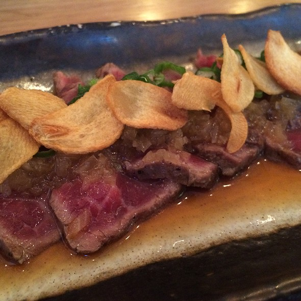 Beef Fillet Tataki With Onion Ponzu And Garlic Crisps @ Kurobuta
