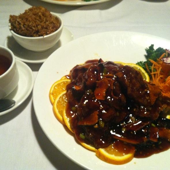 Orange Chicken and Fried Rice @ Chin Chin