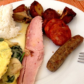 Breakfast Meats - Plumeria Beach House, Honolulu, HI