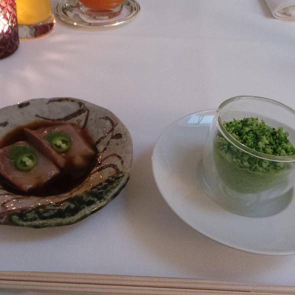 Sashimi, Broccoli Mousse & Ham @ Nagaya