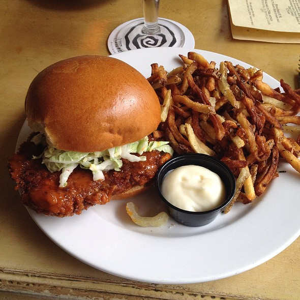 Buffalo Chicken Schnitzel Sandwich - The Brewer's Art, Baltimore, MD