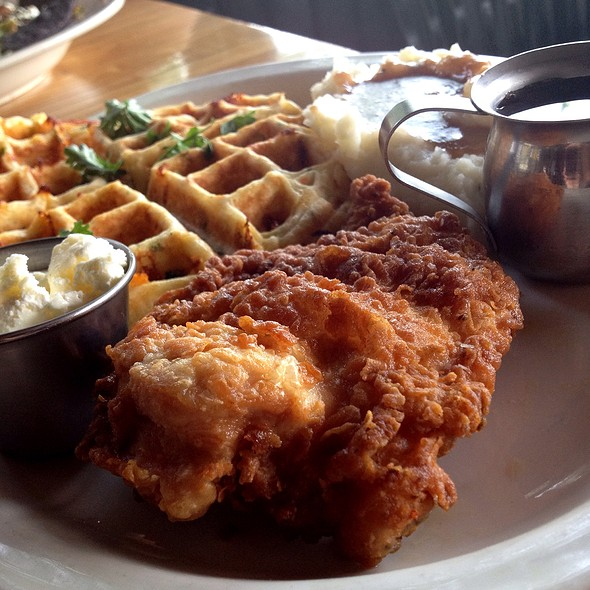 Fried Chicken and Waffles @ The Local Kitchen And Wine Bar