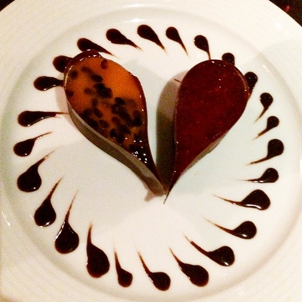 Duo Chocolate Drops With Passion Fruit And Res Fruits @ Nostradamus
