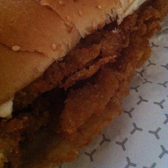 Veal Schnitzel Sandwich @ Fry Haus