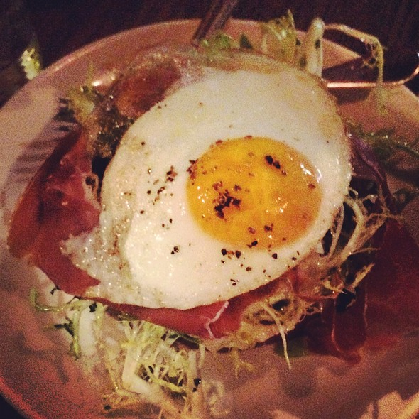 Sunny Side Up On Proscuitto And Salad