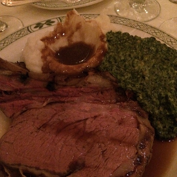 Prime Rib - Lawry's Cut With Mashed Potatoes & Creamed Spinach - Lawry's The Prime Rib - Beverly Hills, Beverly Hills, CA