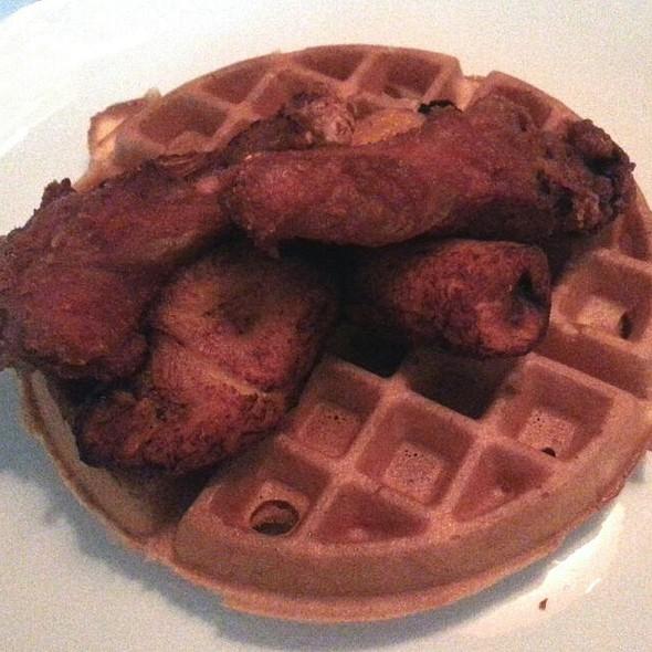 Crispy Duck Leg Confit & Waffle With Sweet Plantains @ Sanford's Restaurant