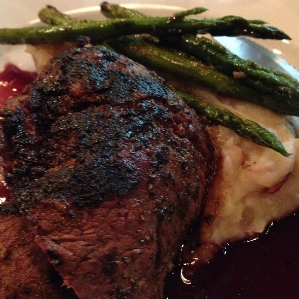 Filet Mignon W/ Whipped Potatoes And Asparagus - Max Lager's Wood-Fired Grill & Brewery, Atlanta, GA