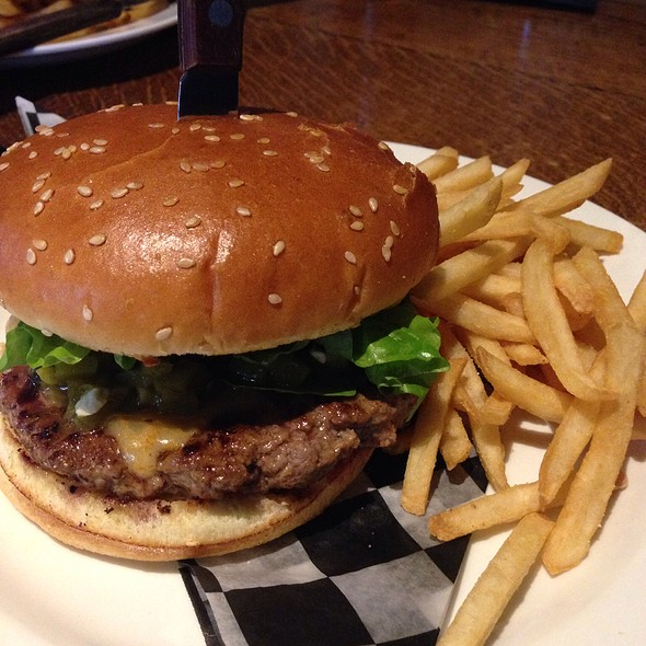Green Chili Burger @ The Fix Burger Bar