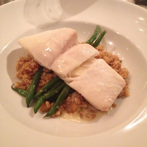 Baked Butter Halibut With Faro At Gazebo Cafe