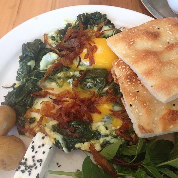 Spinach Narguesi @ Tavoos Restaurant