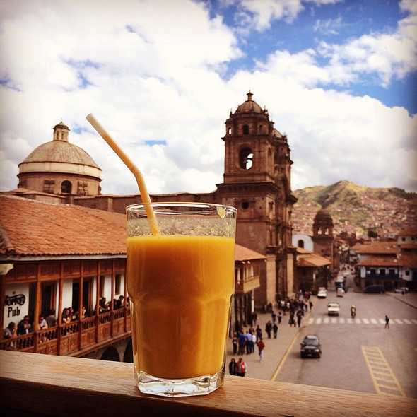Orange Mango Pineapple Juice @ Papacho's Cusco