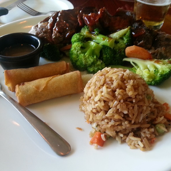Steak Teriyaki and Fried Rice  @ Sushi Moto Asian