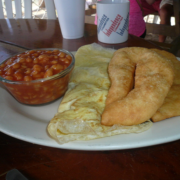 Fish Omlette and Fry Jacks