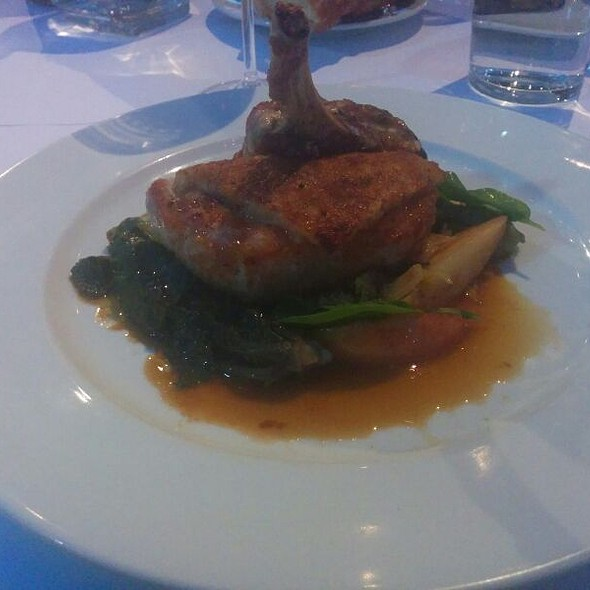 Mustard Grained Crusted Porkchop @ Angele
