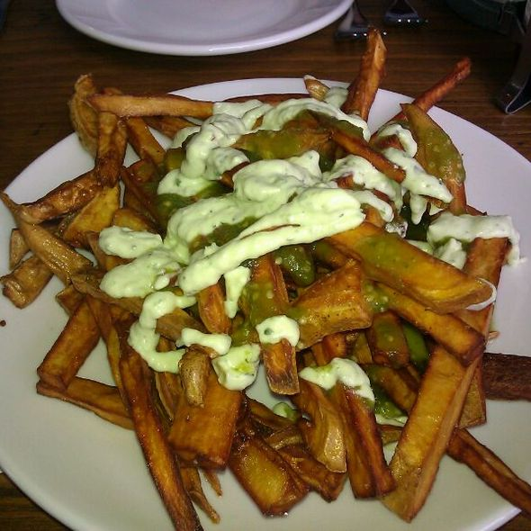 Roasted Garlic Sweet Potato Fries @ Plum Bistro