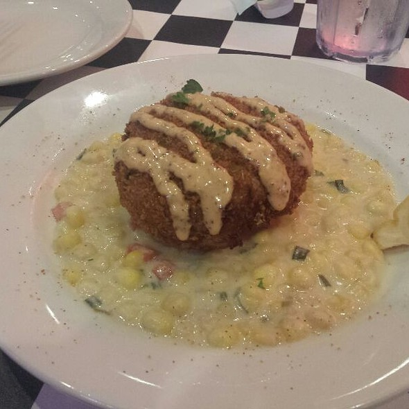 Crab Cake With Corn Maque Choux @ Acme Oyster House