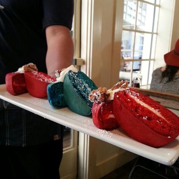 Red And Blue Velvet Pancakes @ Larchmont Bungalow