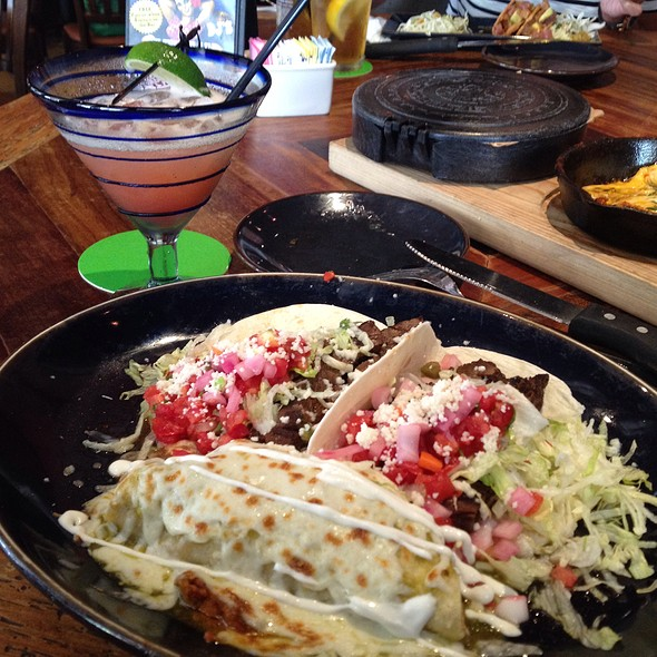 Skirt Steak Tacos and Chicken Enchilada @ rocco's tacos & tequila bar