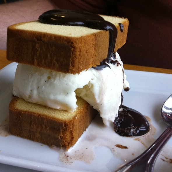 Pound Cake Ice Cream Sandwich - Rod N Reel, Chesapeake Beach, MD