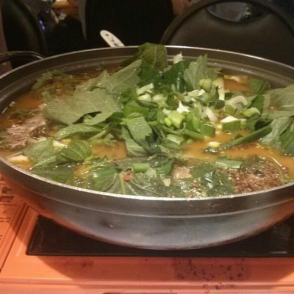 yumso chungol (goat stew)
