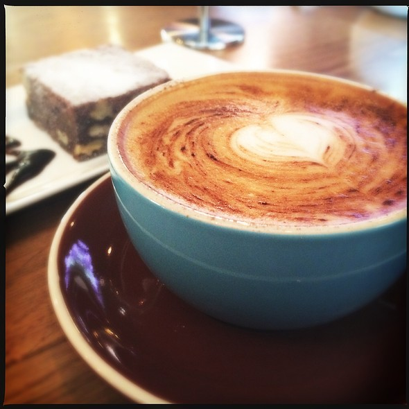 Cappuccino & Brownie @ Cherry Beans Coffee