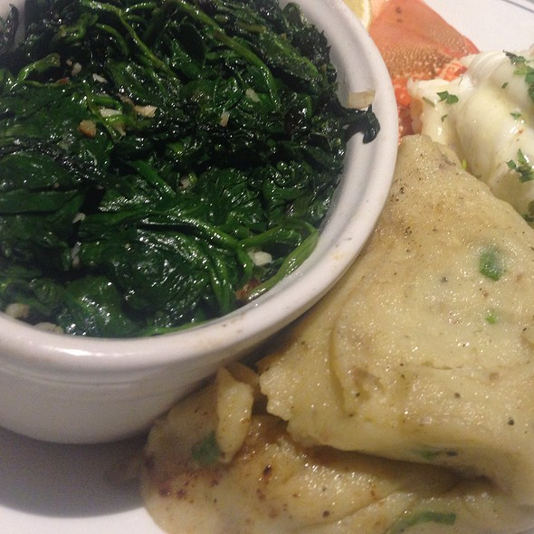 Spinach And Mashed Potatoes
