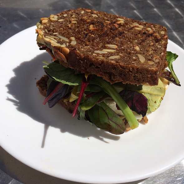 Rye Bread Sandwich With Goat Cheese At The Living Room
