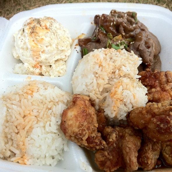 Garlic Chicken & Teri Beef Mixed Plate