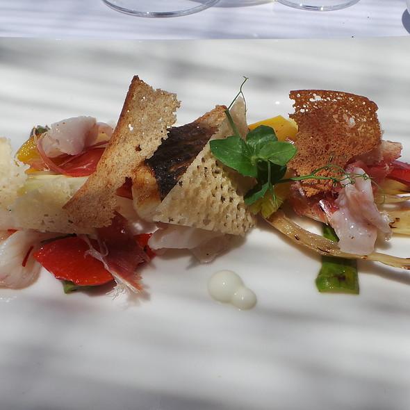 Sea Bass, Vegetables, Jabugo, Parmesan, Bread @ Es Raco d'es Teix