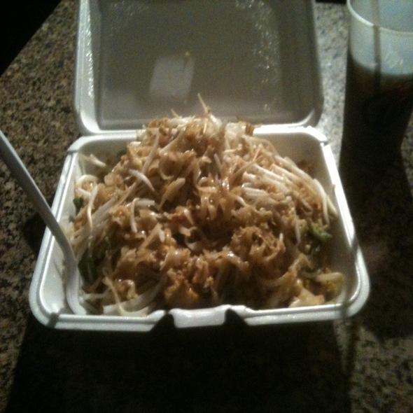 Pad Thai W/ Chicken + Tofu @ Thai Place