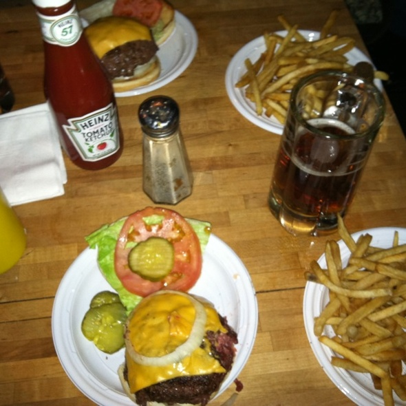 Cheeseburger, Fries And Beer  @ Corner Bistro
