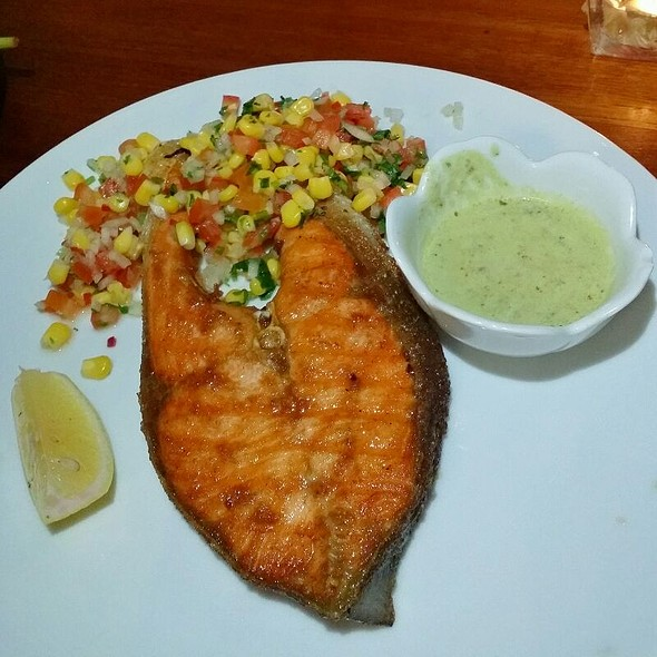 Grilled Salmon @ Huck's Cafe