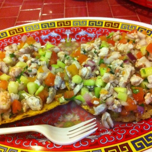 Ceviche de Camaron Tostadas @ Mariscos El Ostion