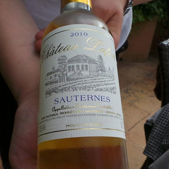 Chateau Lafon Sauternes 2010 @ Es Raco d'es Teix