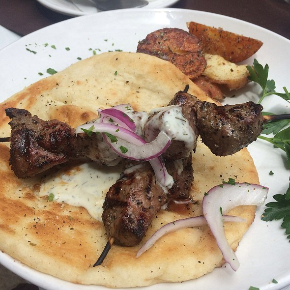 Lamb Souvlaki - Ziziki's - Travis Walk, Dallas, TX